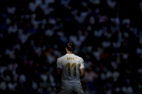 Gareth Bale v drese Realu Madrid.