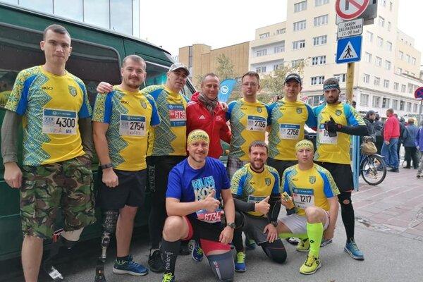 Na košický maratón pozvali aj ukrajinských vojnových veteránov.