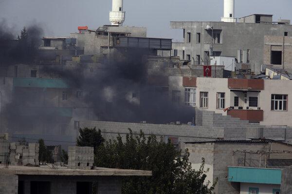 Explózia v meste Akčakale v tureckej provincii Šanliurfa.