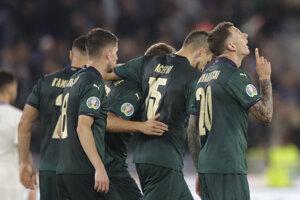 Radosť hráčov Talianska.