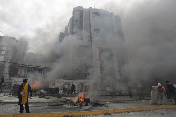 Protesty v Ekvádore pokračovali.