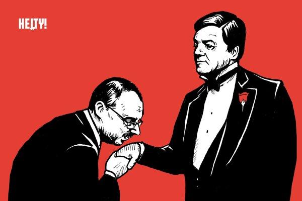 Karikatúra denníka SME od Hej,ty!