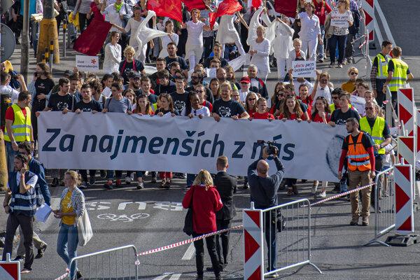 Tretí ročník Národného pochodu za život - Bratislava 22. septembra 2019.