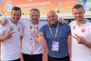 Zľava Ján Bodorík, Peter Hajas, Ján Borievka aRichard Bujna.