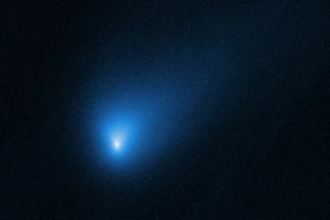 Záber na kométu 2I/Borisov vo vzdialenosti takmer 420 miliónov kilometrov od Zeme.