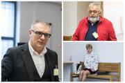 Vľavo podnikateľ v médiách Ján Kováčik, vpravo hore Kočnerov dlhoročný priateľ Jozef Dučák st. a bývalá manželka Pavla Ruska Viera.