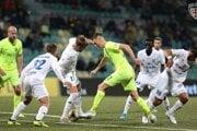 Momentka zo zápasu medzi MŠK Žilina a MFK Zemplín Michalovce.