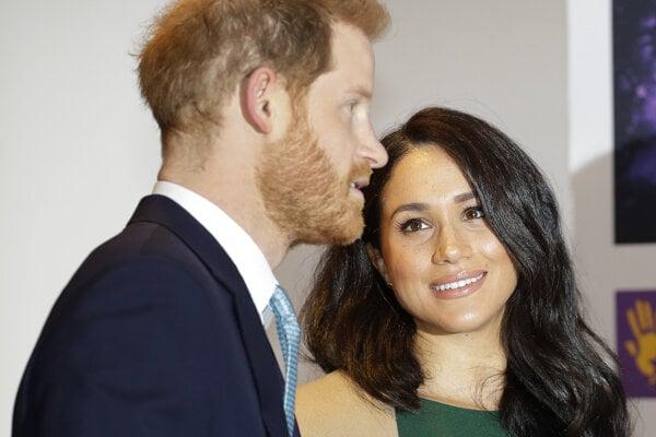 Vojvodkyňa zo Sussexu a jej muž Harry.