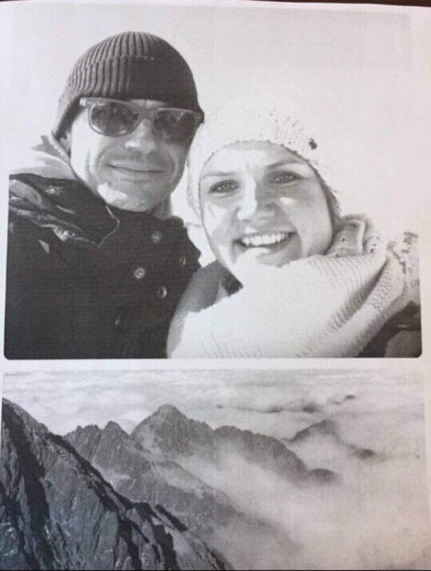 Spoločná fotka Petra Tótha s novinárkou Martinou Ruttkayovou. Pre SME poprela, že by išlo o spoločnú lyžovačku.