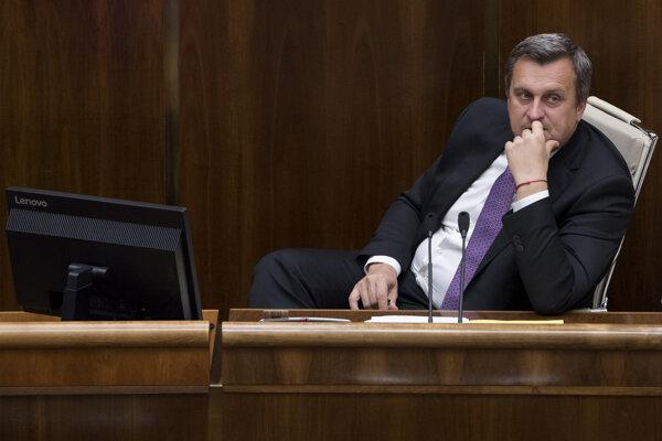 Andrej Danko v parlamente.