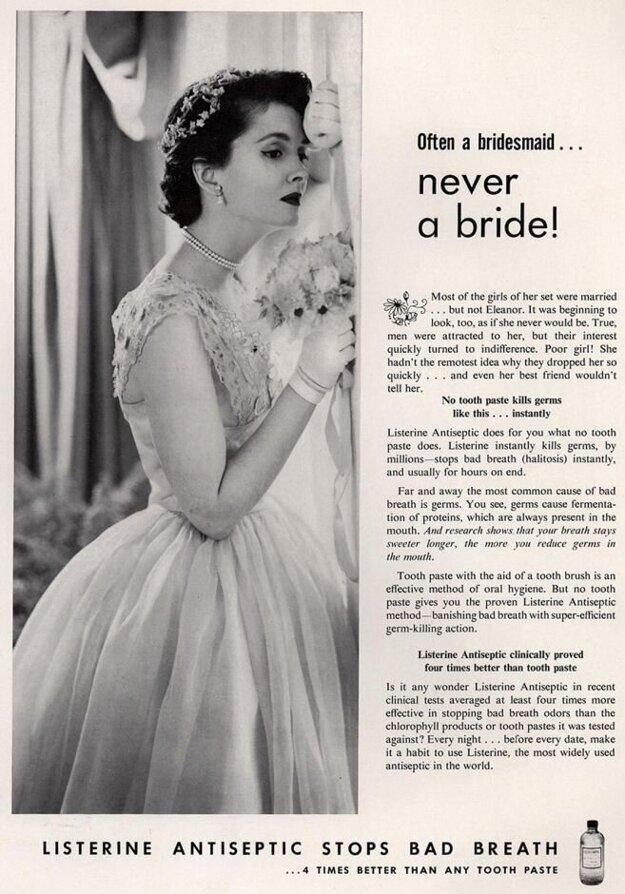 Reklama na ústnu vodu zo šesťdesiatych rokov.