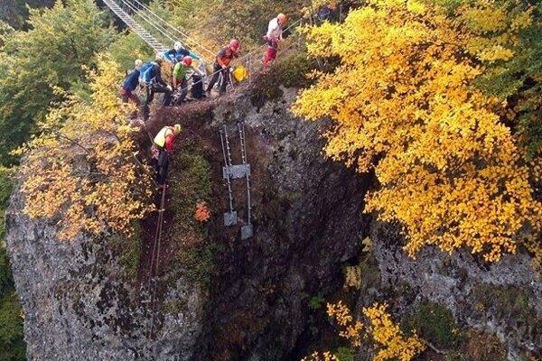 Výzva patrí k najnáročnejším ferratám na Slovensku.