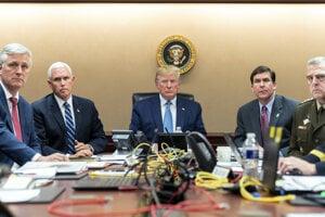 Trump sleduje operáciu na elimináciu Bagdádího.