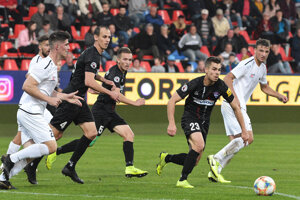 Martin Kovaľ (č. 23) dal v sobotu víťazný gól FC ViOn do siete Nitry.