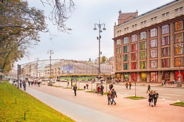 Bulvár Chreščatyk v centre Kyjeva