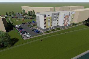 Vizualizácia nového bytového domu.