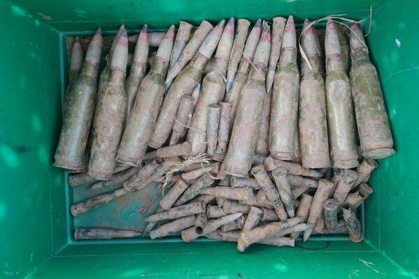 V bývalom vojenskom obvode bolo nájdených sto kusov munície.