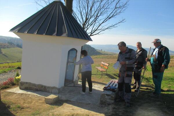 Vynovená kaplnka Na vrchu.