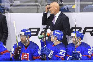 Craig Ramsay na lavičke slovenskej reprezentácie.