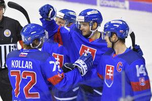 Andrej Kollár v drese slovenskej hokejovej reprezentácie.