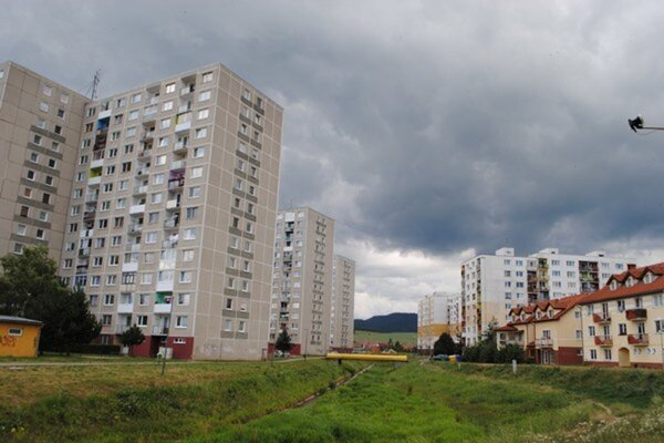 Smižany. Pohľad na západnú časť obce.