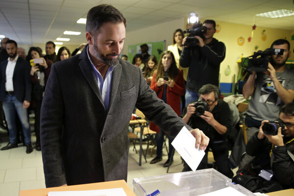 Santiago Abascal líder krajne pravicovej strany Vox.