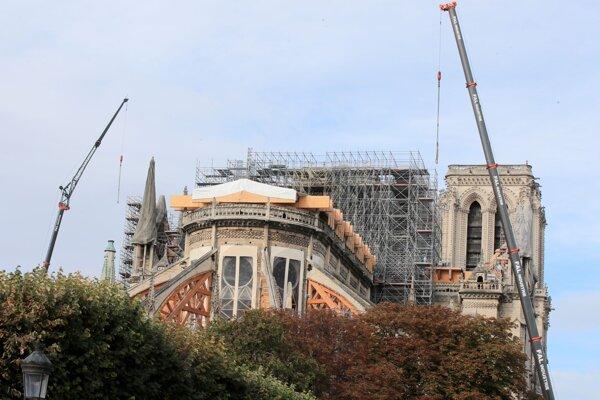 Pohľad na katedrálu Notre-dame v októbri 2019.