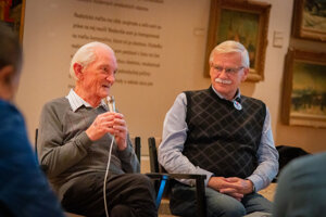 Fedor Polóni (vľavo) a Alexander Slafkovský (vpravo).