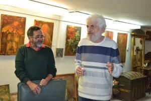 Fedor Gál (vpravo) prijal pozvanie humenského výtvarníka Mariána Kusika, svojho švagra.