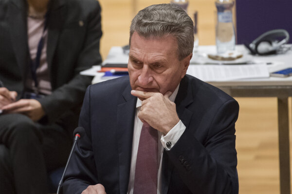 Eurokomisár pre rozpočet a ľudské zdroje Günther Oettinger.