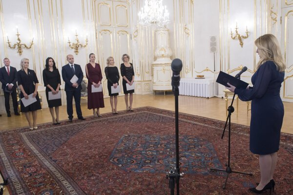Prezidentka vymenovala šiestich sudcov.
