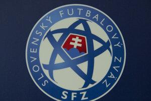 Logo Slovenského futbalového zväzu - ilustračná fotografia.
