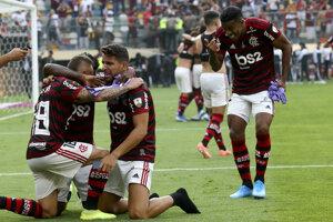 Hráči klubu Flamengo.