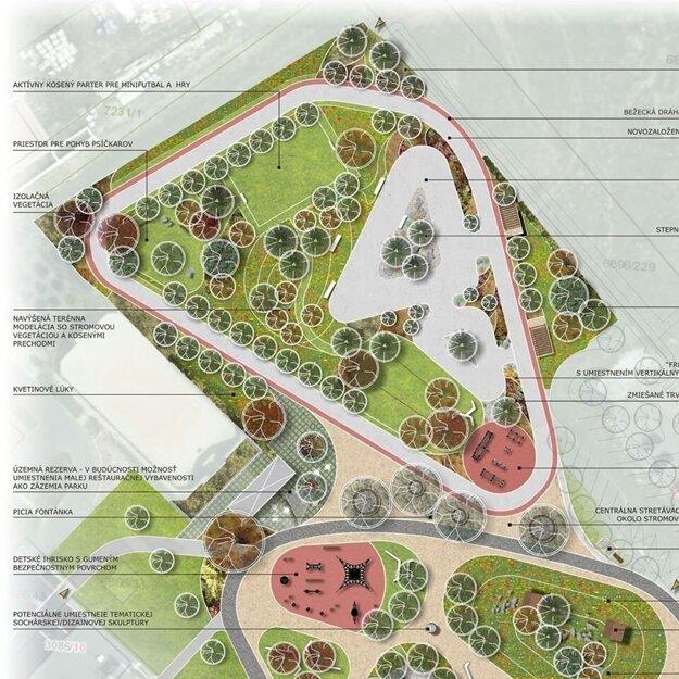 Park pohybu na Vinohradoch v Leviciach.