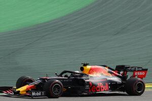 Monopost Red Bull, ktorý riadi Max Verstappen.
