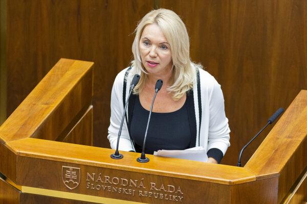 Poslankyňa NR SR Eva Antošová.