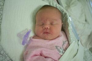 Emma Pištová (4260 g, 52 cm) sa narodila 14. novembra Martine a Andrejovi z Dulova.