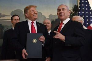 Americký prezident Donald Trump a izraelský premiér Benjamin Netanjahu.