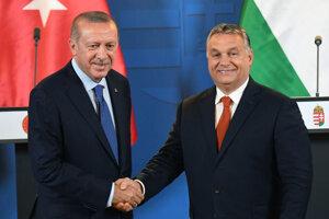 Turecký prezident s Maďarským premiérom