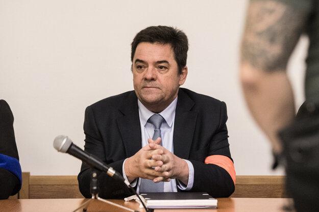 Marian Kočner v pojednávacej miestnosti.