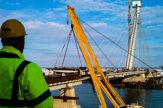 V Komárne prepojili mostom oba brehy Dunaja (fotogaléria)