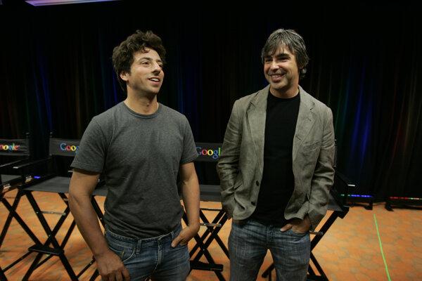 Zľava Sergey Brin a Larry Page.