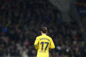 Antoine Griezmann počas zápasu proti Atleticu.