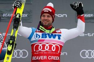 Rakúsky lyžiar Beat Feuz po triumfe v americkom Beaver Creeku 2019.