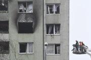 Obhliadka bytovky po výbuchu plynu v Prešove.