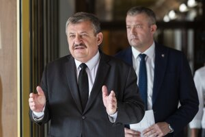 Anton Hrnko a Jaroslav Baška po zasadnutí výboru.