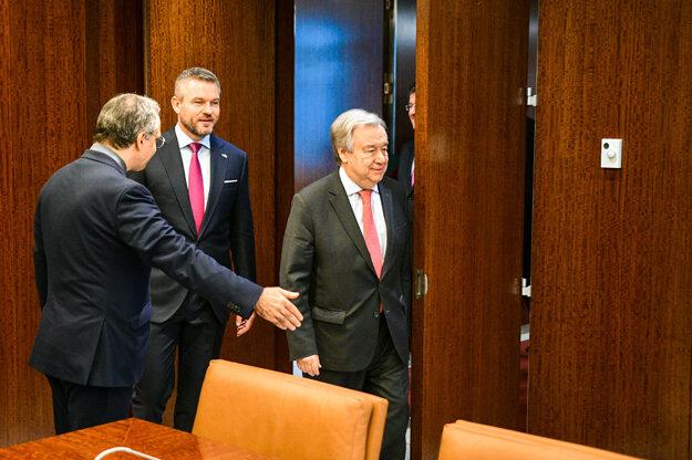 Slovenský premiér bilaterálne rokoval s generálnym tajomníkom OSN.