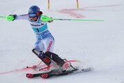 Petra Vlhová počas pretekov paralelného slalomu v St. Moritzi.