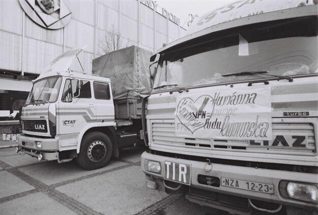 Jeden a pol kamióna humanitárnej pomoci vyzbierali za niekoľko hodín.