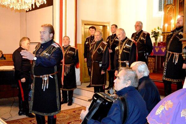Vianočný koncert donských kozákov vo Vrútkach.